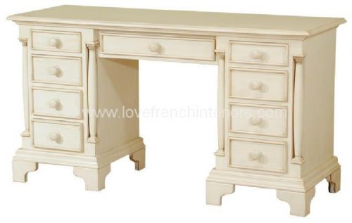 Roseline Twin Pedestal Desk or Dressing Table